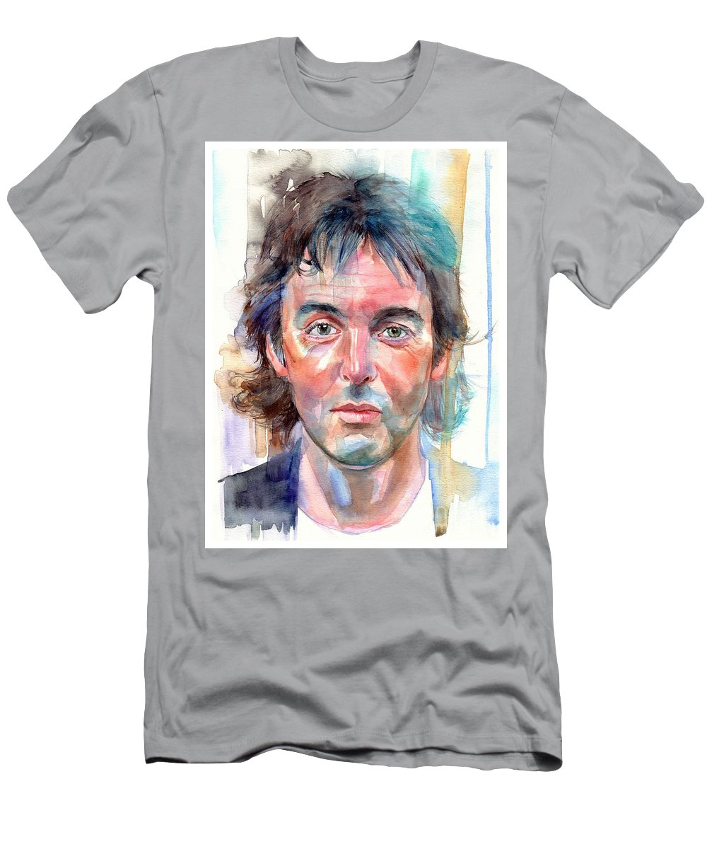 Paul T-Shirt featuring the painting Paul McCartney young portrait by Suzann Sines