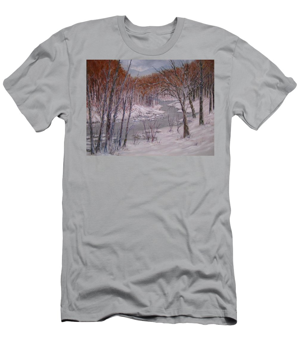 Peace Project Men's T-Shirt (Athletic Fit) featuring the painting Peace And Quiet by Ben Kiger