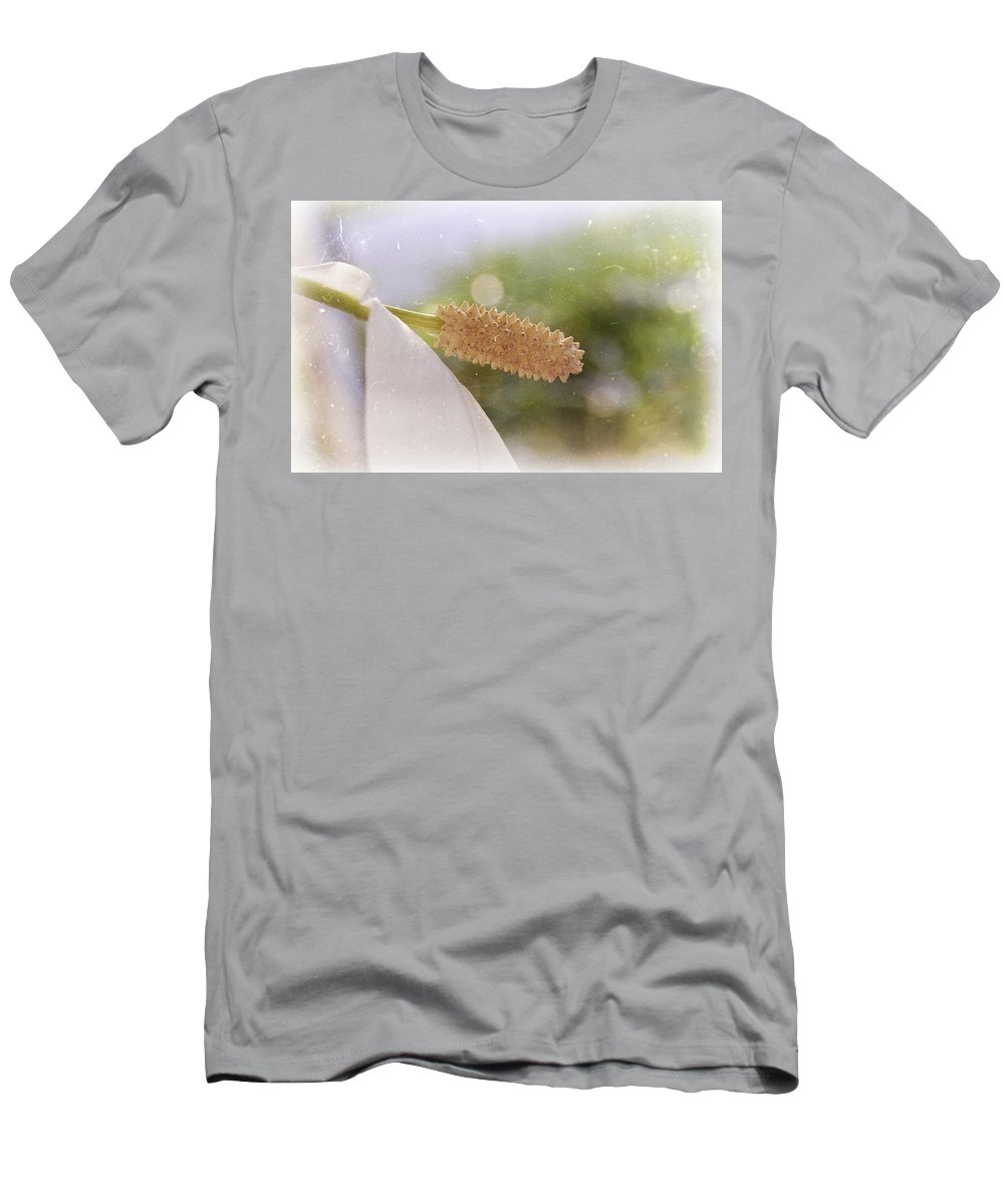 Peace Men's T-Shirt (Athletic Fit) featuring the photograph Peace Lily by Amber Flowers