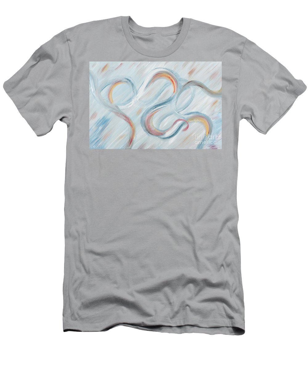 Peace T-Shirt featuring the painting Peace by Nadine Rippelmeyer