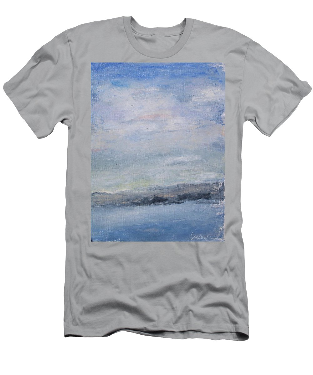 Sky Men's T-Shirt (Athletic Fit) featuring the painting Peace by Patricia Caldwell