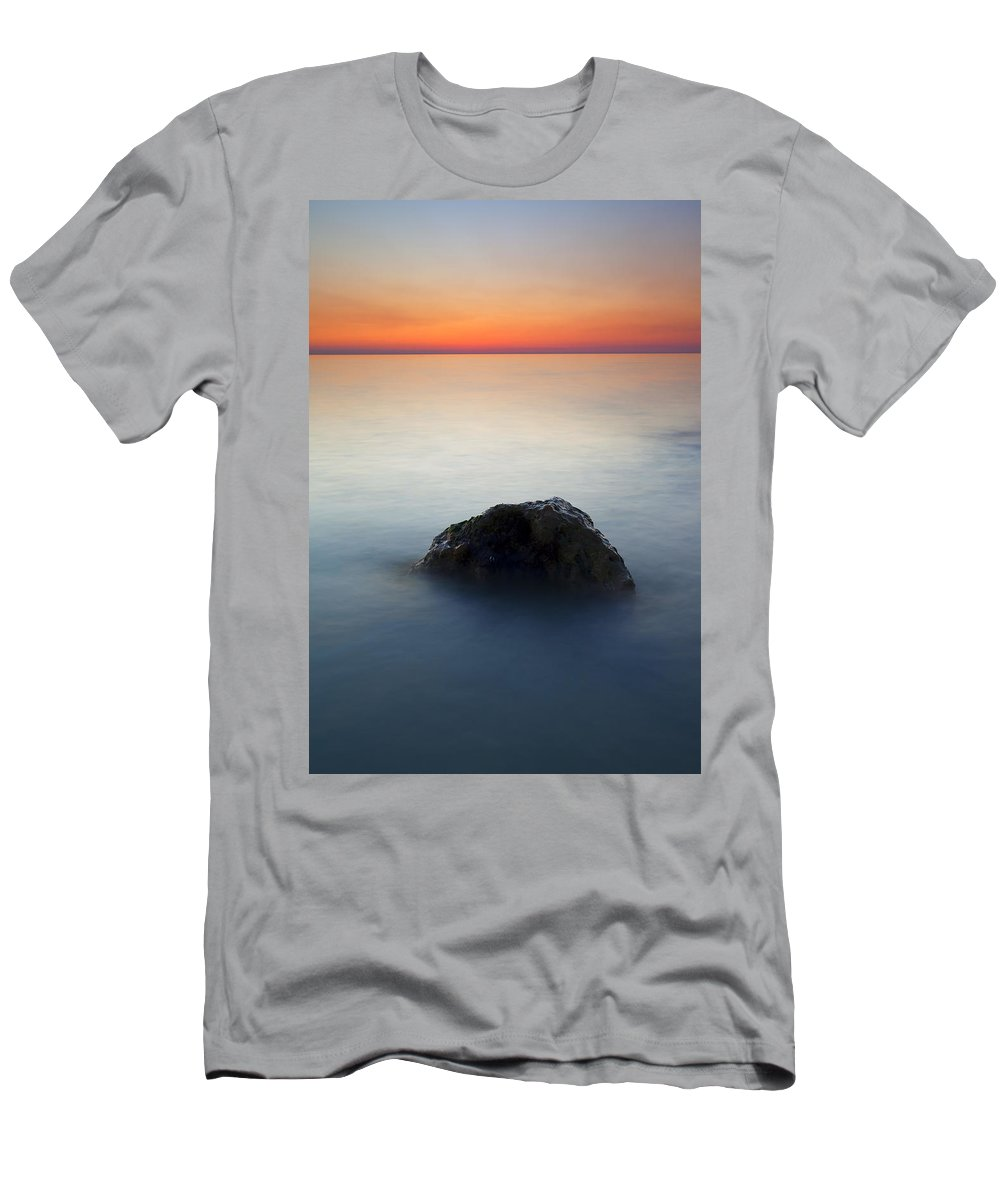 Rock Men's T-Shirt (Athletic Fit) featuring the photograph Peaceful Isolation by Mike Dawson