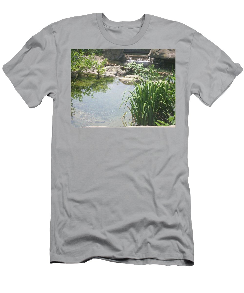 Water Men's T-Shirt (Athletic Fit) featuring the photograph Peaceful Stream by Jill Ballard