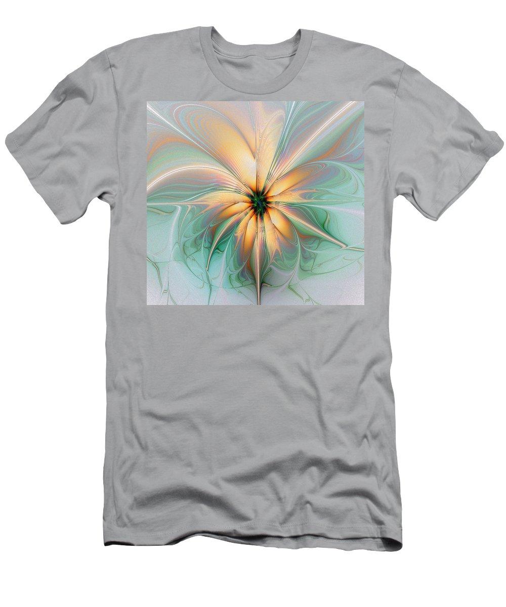 Digital Art Men's T-Shirt (Athletic Fit) featuring the digital art Peach Allure by Amanda Moore