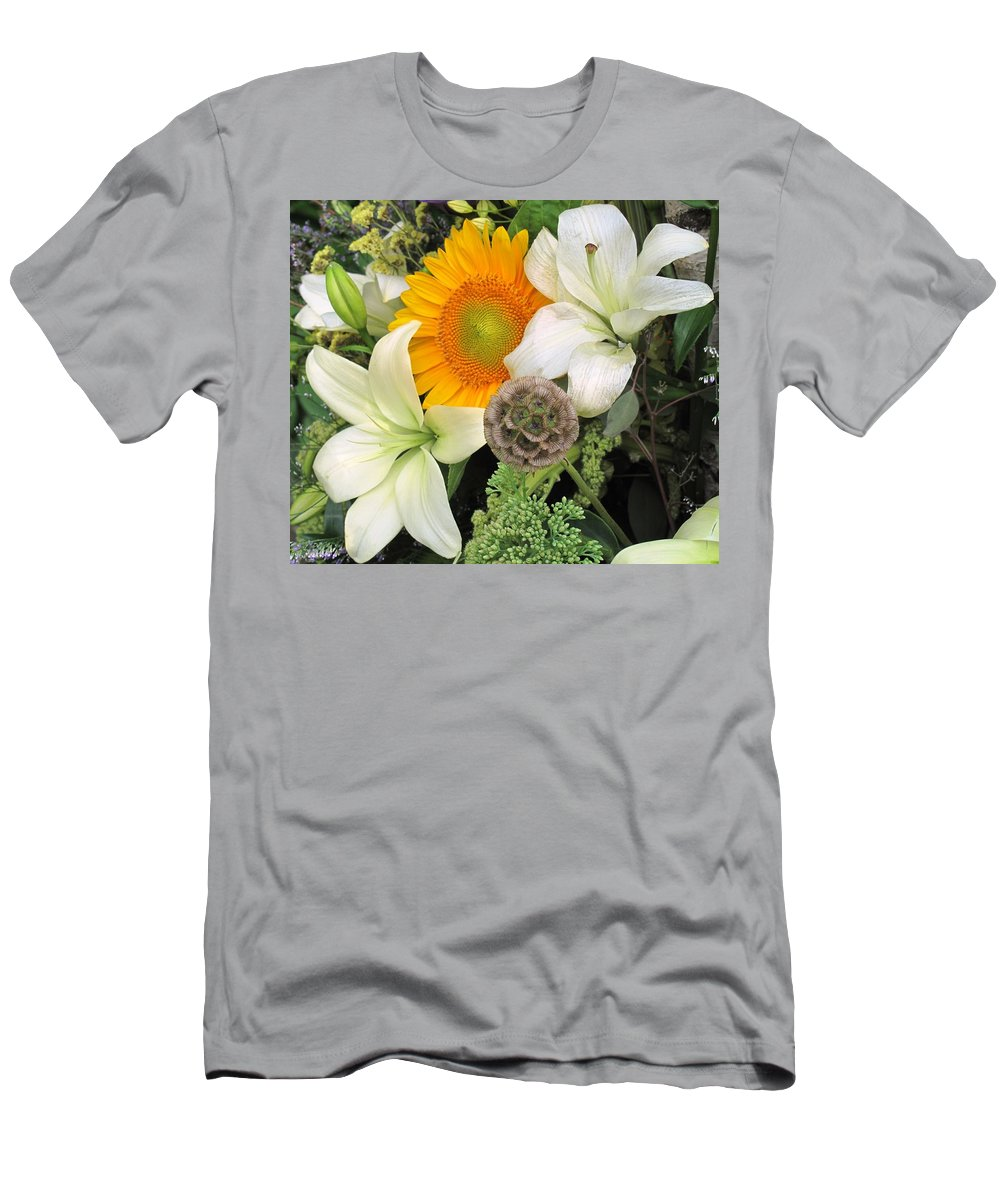 Lillies Men's T-Shirt (Athletic Fit) featuring the photograph Peeking Out by Ian MacDonald