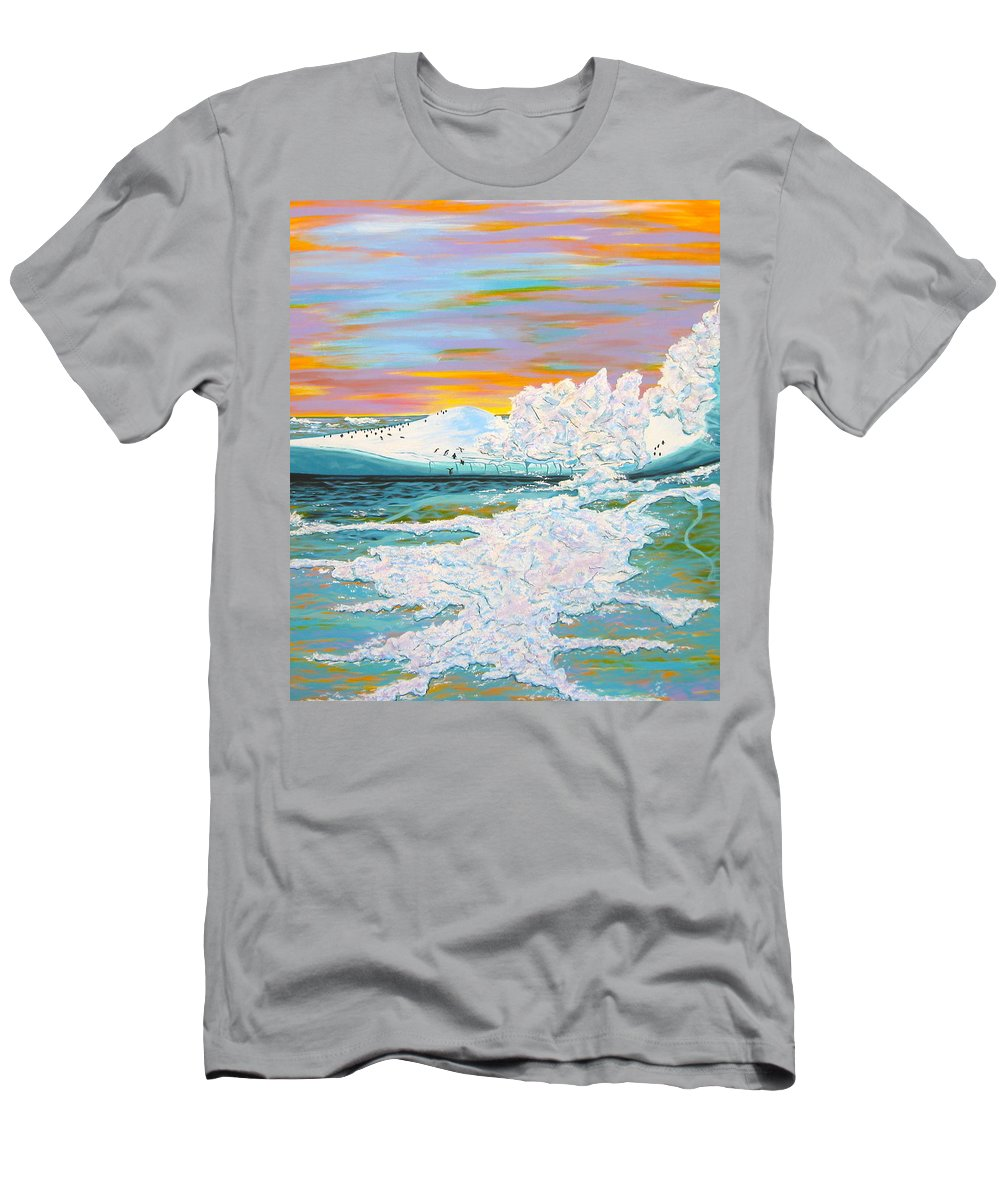 Ice Men's T-Shirt (Athletic Fit) featuring the painting The Last Iceberg by V Boge