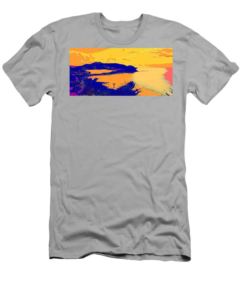 St Kitts Men's T-Shirt (Athletic Fit) featuring the photograph Peninsula Orange by Ian MacDonald