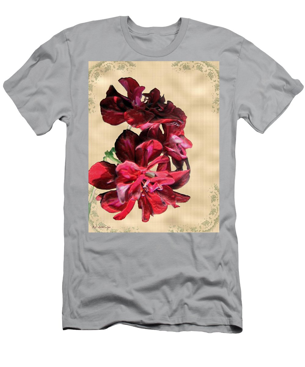 Flowers Men's T-Shirt (Athletic Fit) featuring the painting Penny Postcard by RC DeWinter
