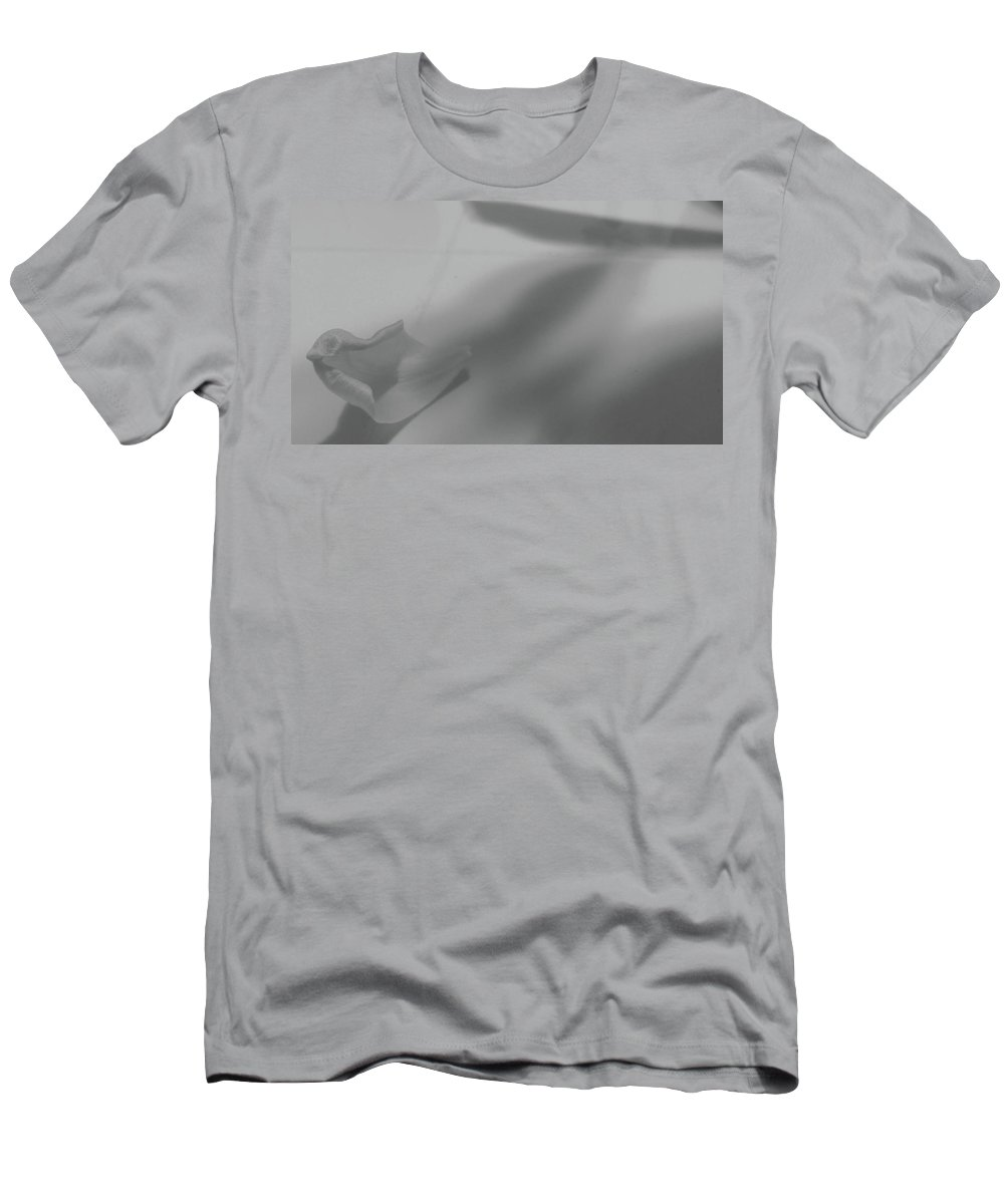 Black And White Men's T-Shirt (Athletic Fit) featuring the photograph Petal by Enid Rose