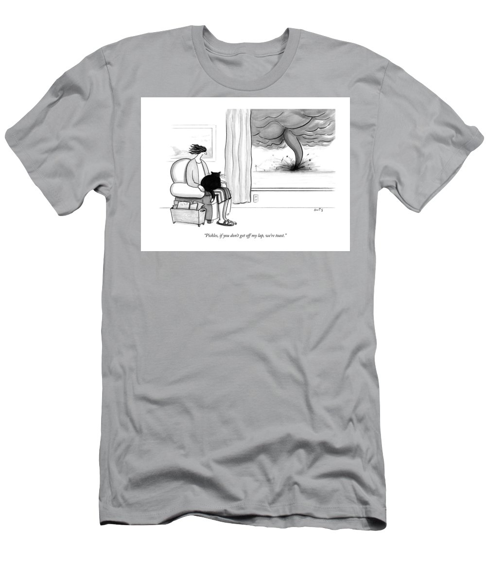 """""""pickles T-Shirt featuring the drawing Pickles if you do not get off my lap we are toast by Julia Suits"""