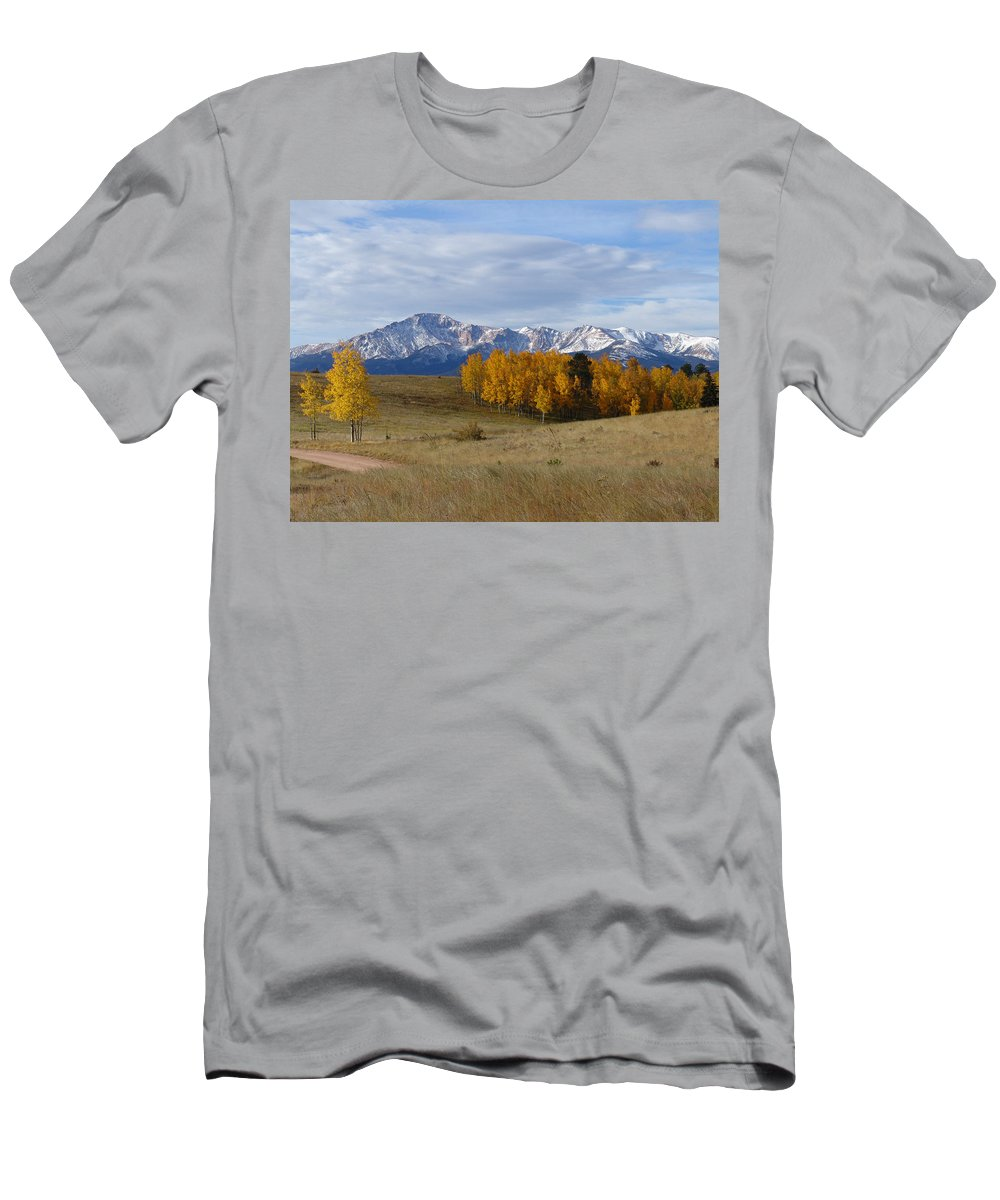 Fall T-Shirt featuring the photograph Pikes Peak in the Fall by Carol Milisen