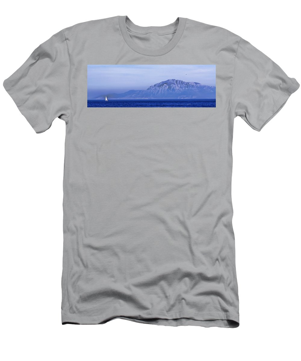Atlas Mountains Men's T-Shirt (Athletic Fit) featuring the photograph Pilars Of Hercules by Donovan Torres