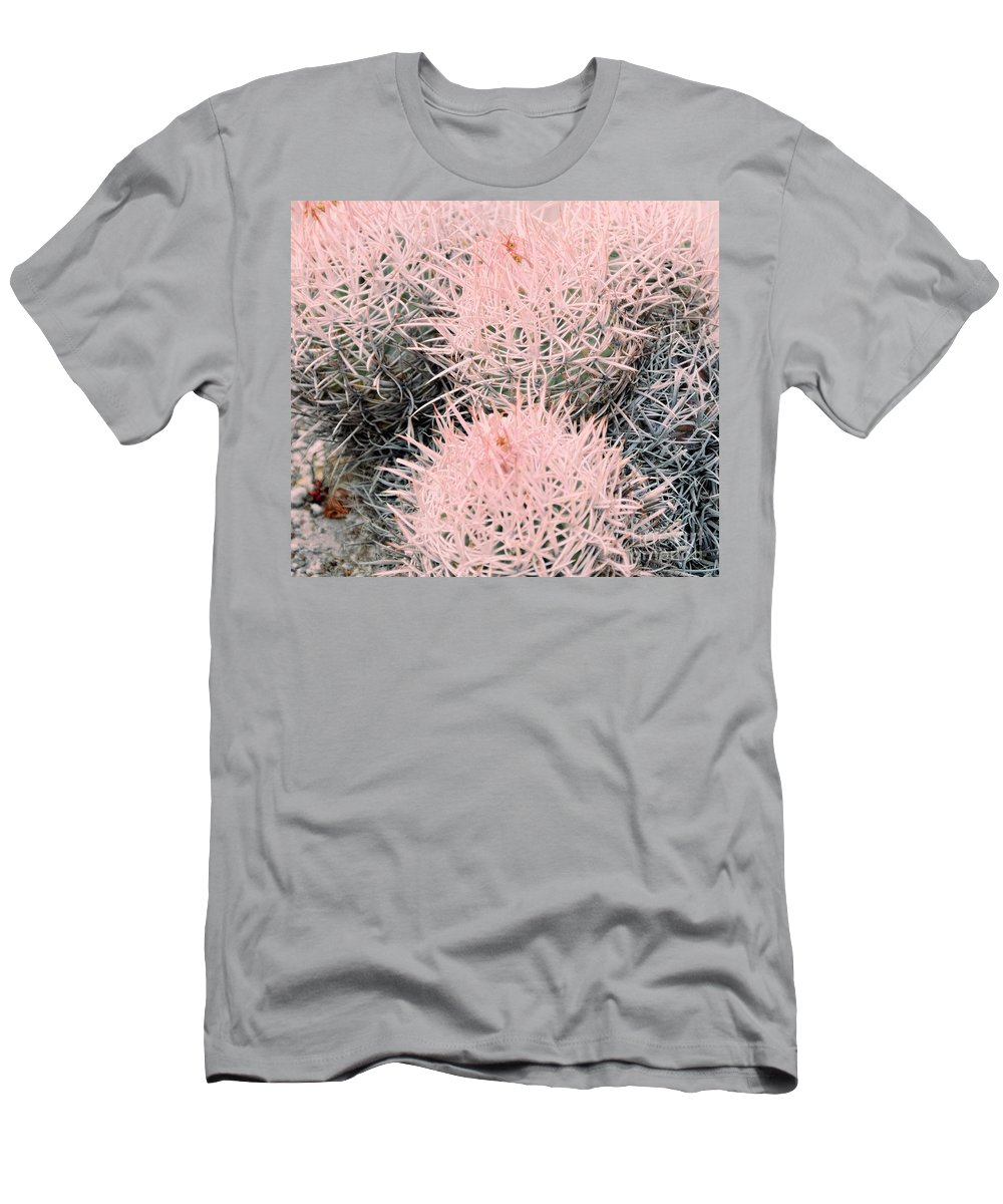 Pink Men's T-Shirt (Athletic Fit) featuring the photograph Pink Cactus by Kathleen Struckle