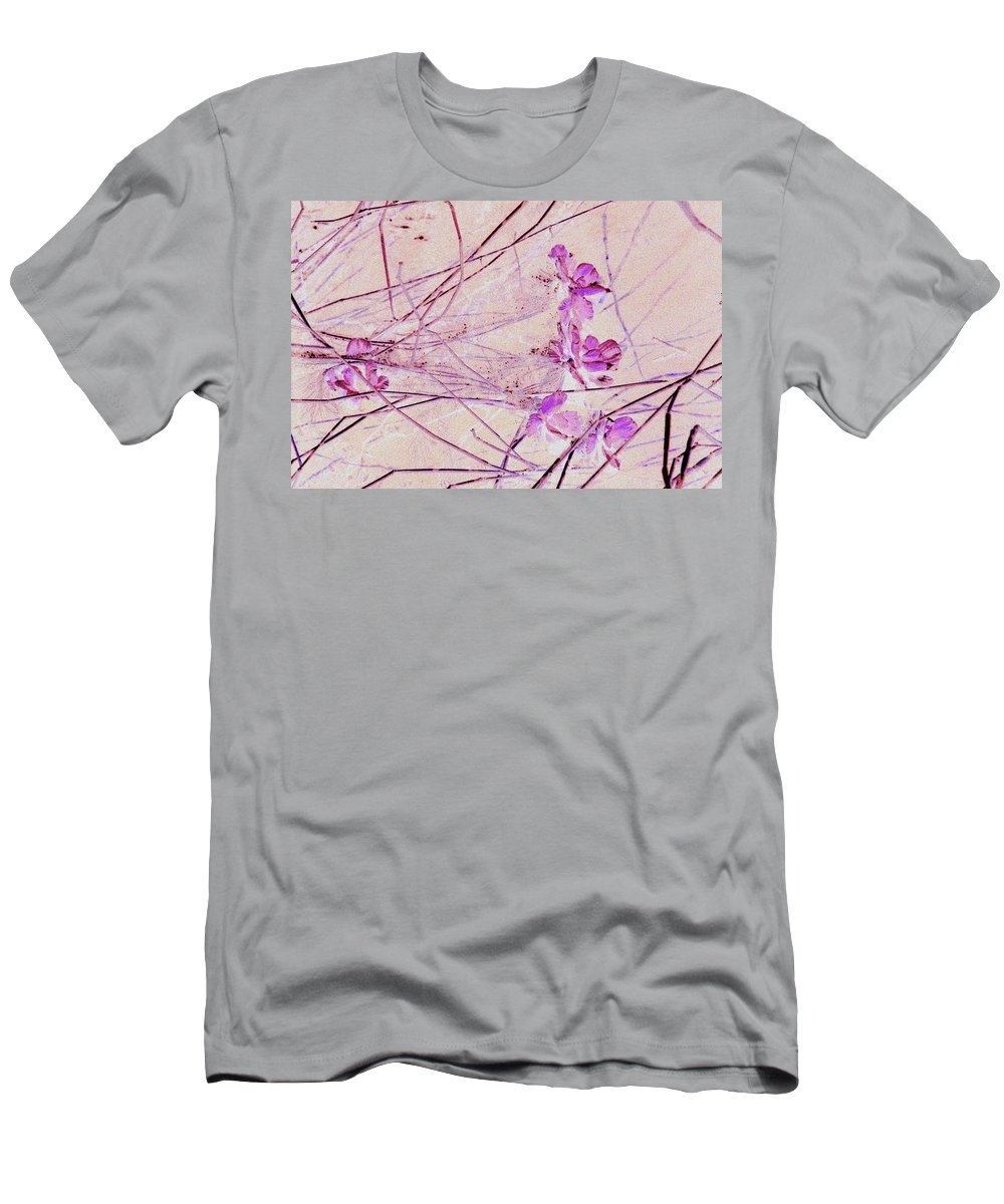 Abstract Men's T-Shirt (Athletic Fit) featuring the photograph Pink Pastel by Susanne Van Hulst