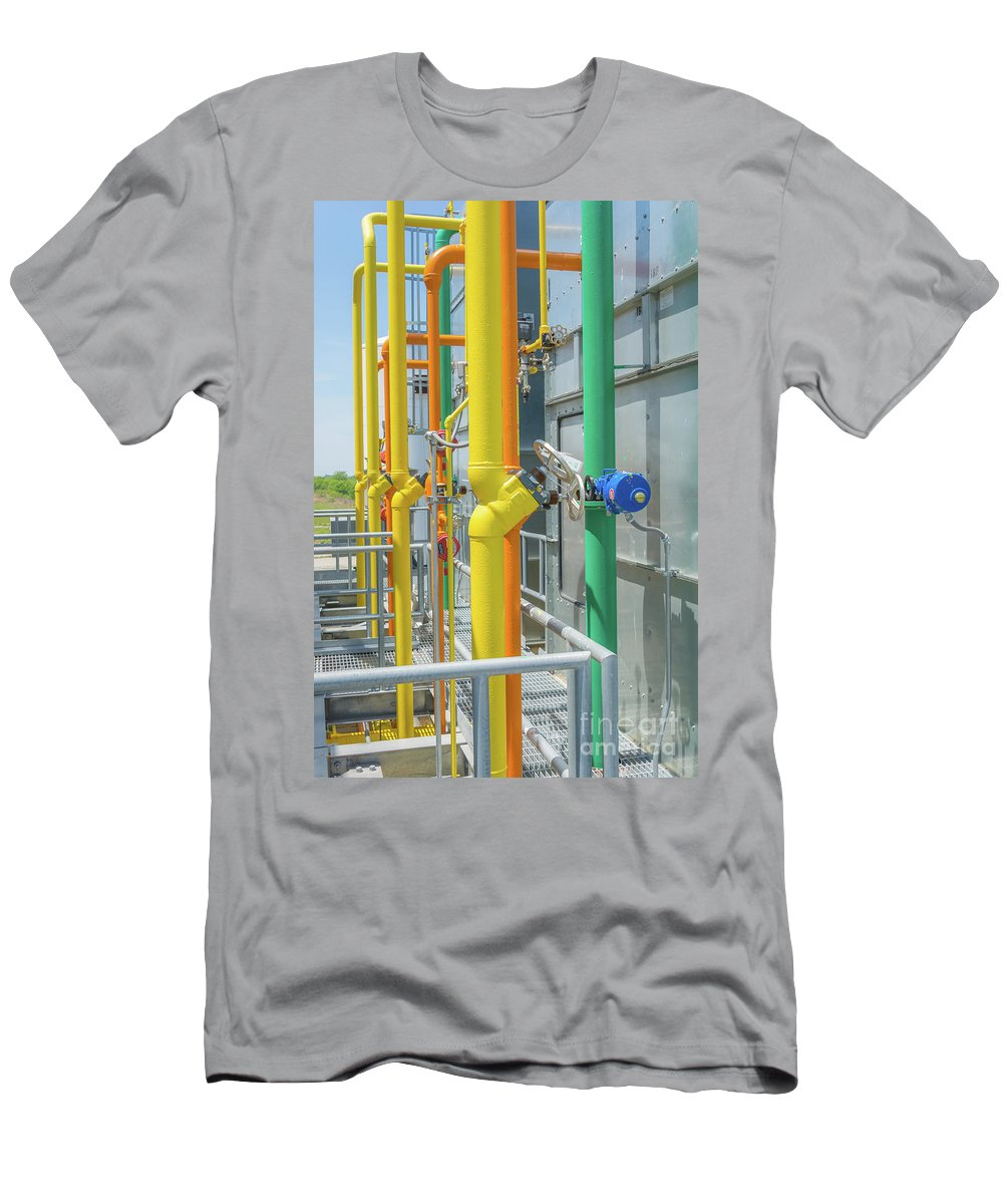 Plant Men's T-Shirt (Athletic Fit) featuring the photograph Pipe Dream by Pamela Williams