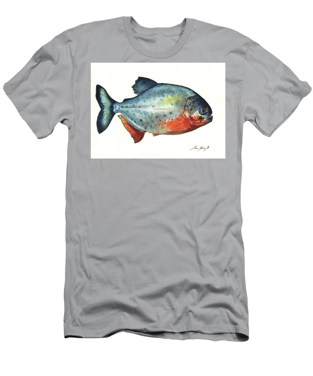 Piranha Fish Men's T-Shirt (Athletic Fit)