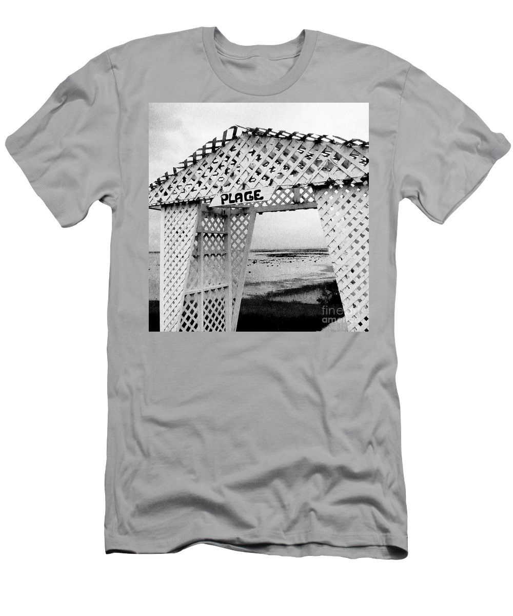 Abstract Men's T-Shirt (Athletic Fit) featuring the photograph Plage by Adriana Zoon