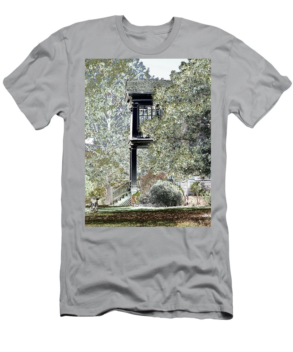 Outside Men's T-Shirt (Athletic Fit) featuring the photograph Plantation View by Charleen Treasures
