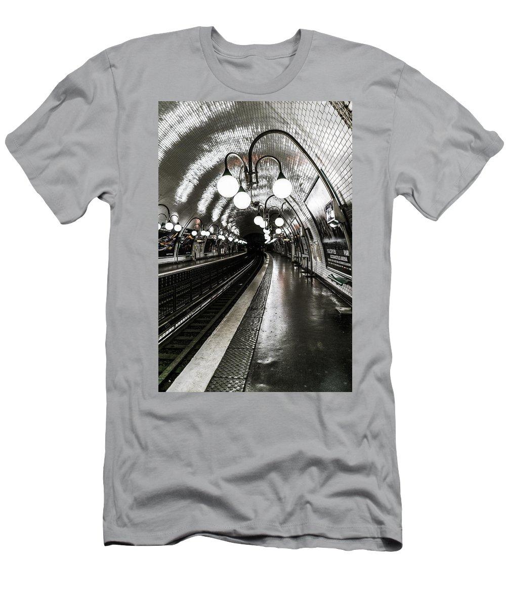 Platform Men's T-Shirt (Athletic Fit) featuring the photograph Platform by James Billings