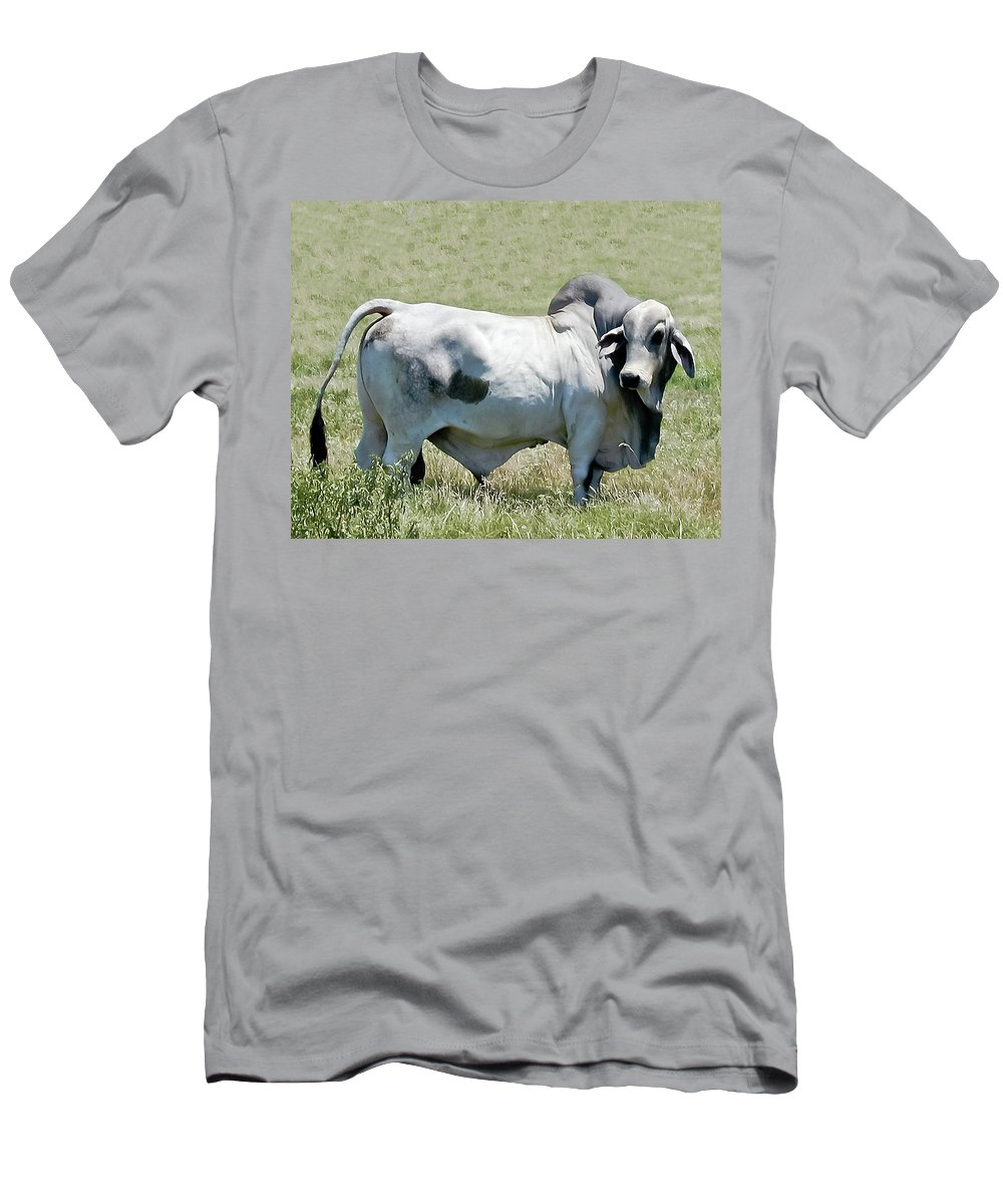Animals Men's T-Shirt (Athletic Fit) featuring the photograph Play Dead Blue by Gary Adkins