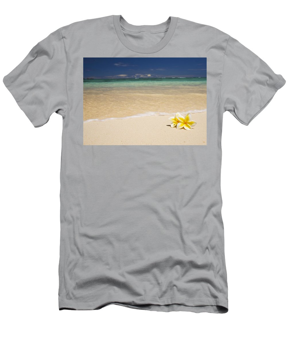 Afternoon Men's T-Shirt (Athletic Fit) featuring the photograph Plumeria Pair by Tomas del Amo - Printscapes