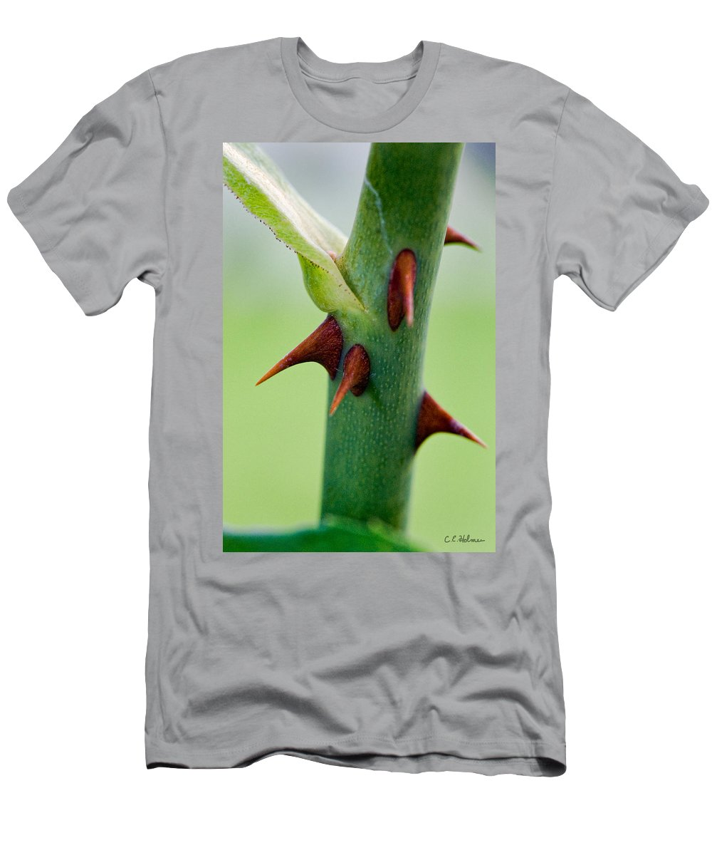 Thorns Men's T-Shirt (Athletic Fit) featuring the photograph Pointed Personality by Christopher Holmes