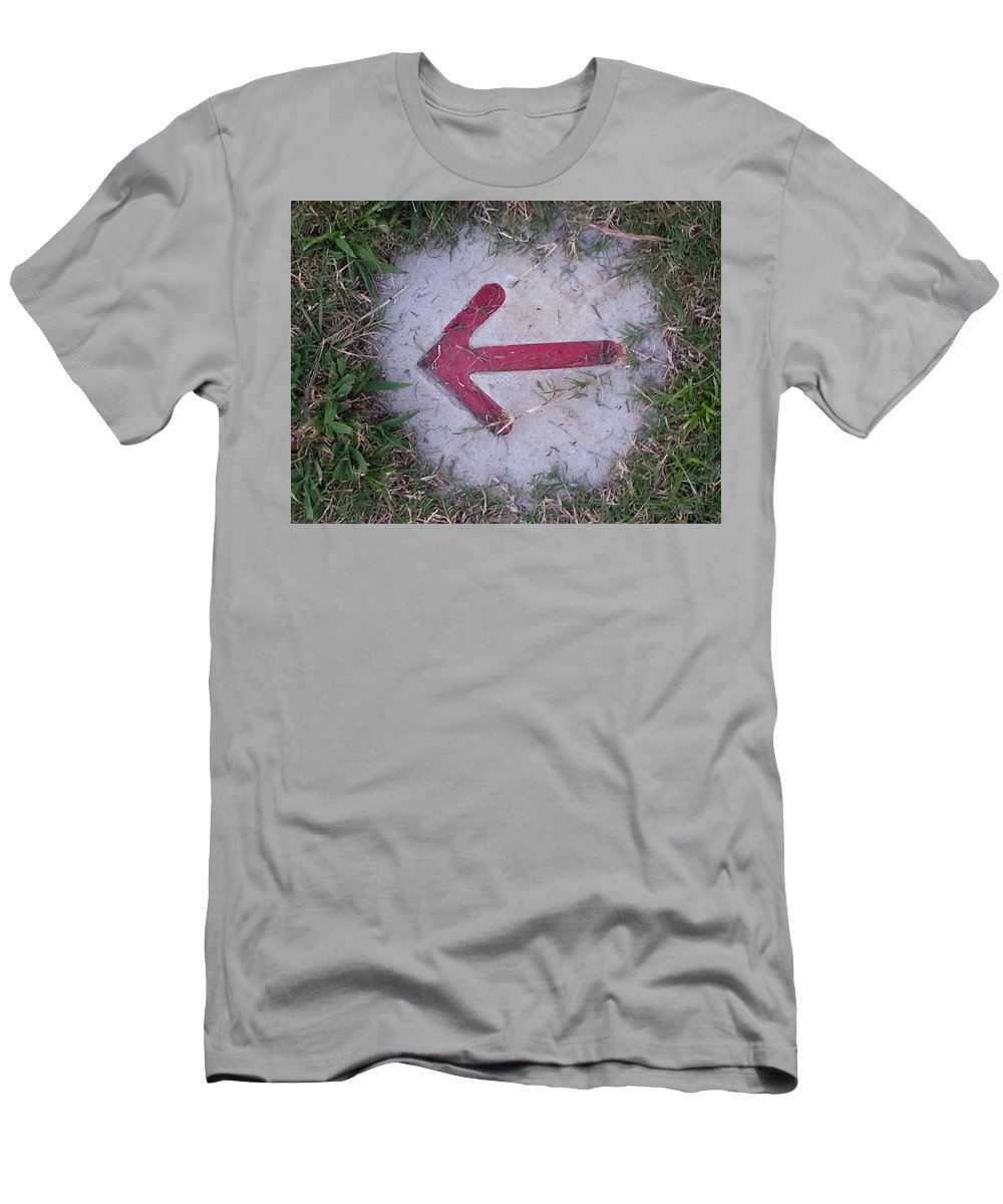 Arrow Men's T-Shirt (Athletic Fit) featuring the photograph Pointing The Way by Donna Riordan