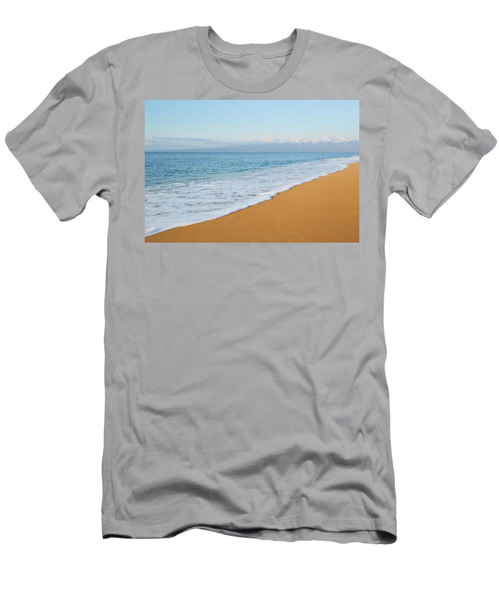 Afternoon Men's T-Shirt (Athletic Fit) featuring the photograph Polihua Beach by MakenaStockMedia