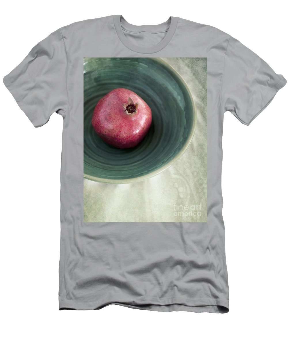 Punica Granatum Men's T-Shirt (Athletic Fit) featuring the photograph Pomegranate by Priska Wettstein