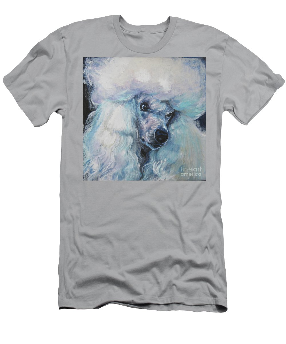 Dog Men's T-Shirt (Athletic Fit) featuring the painting Poodle White Standard by Lee Ann Shepard