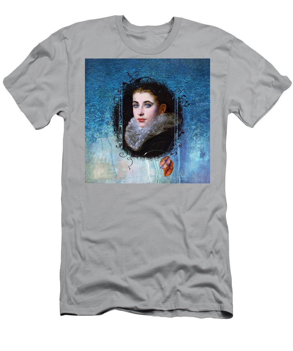 Women.vintage T-Shirt featuring the painting Portal Portrait by Laura Botsford