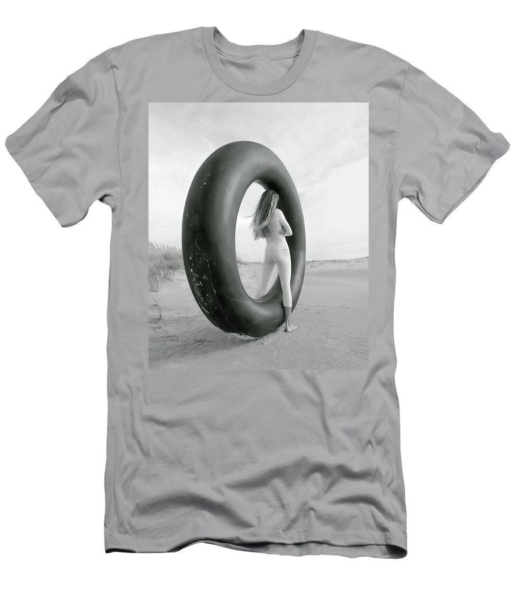 Inner Tube Men's T-Shirt (Athletic Fit) featuring the photograph Portal by Scott Griswold