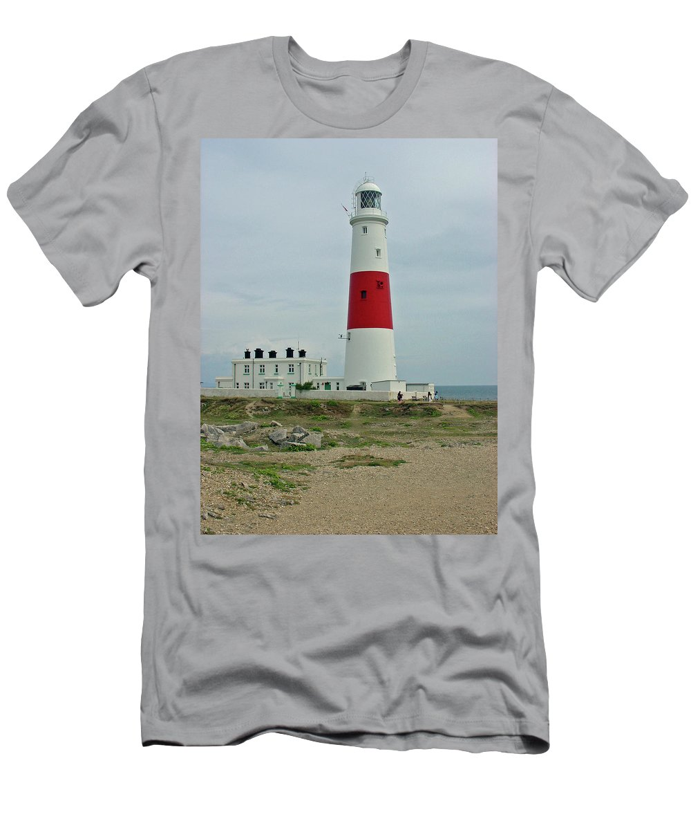 Europe Men's T-Shirt (Athletic Fit) featuring the photograph Portland Bill Lighthouse by Rod Johnson