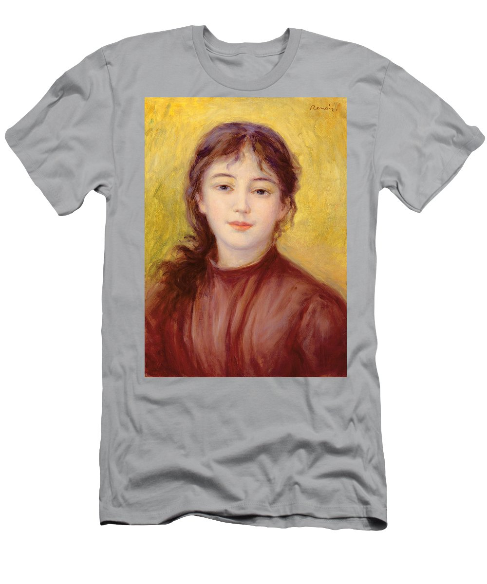 Portrait Men's T-Shirt (Athletic Fit) featuring the painting Portrait Of A Woman by Pierre Auguste Renoir
