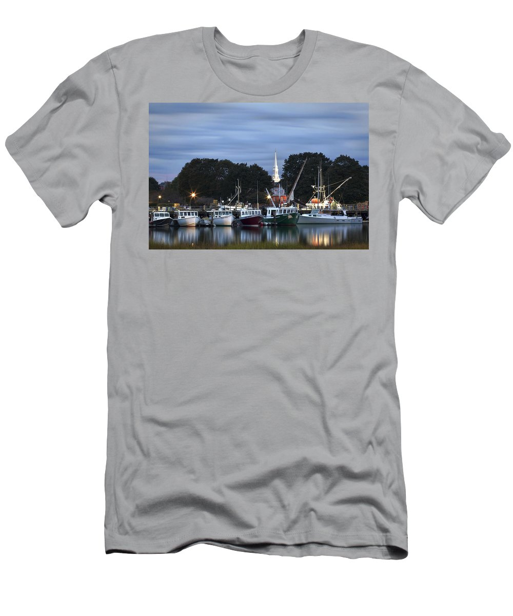 Portsmouth Men's T-Shirt (Athletic Fit) featuring the photograph Portsmouth Fish Pier by Eric Gendron