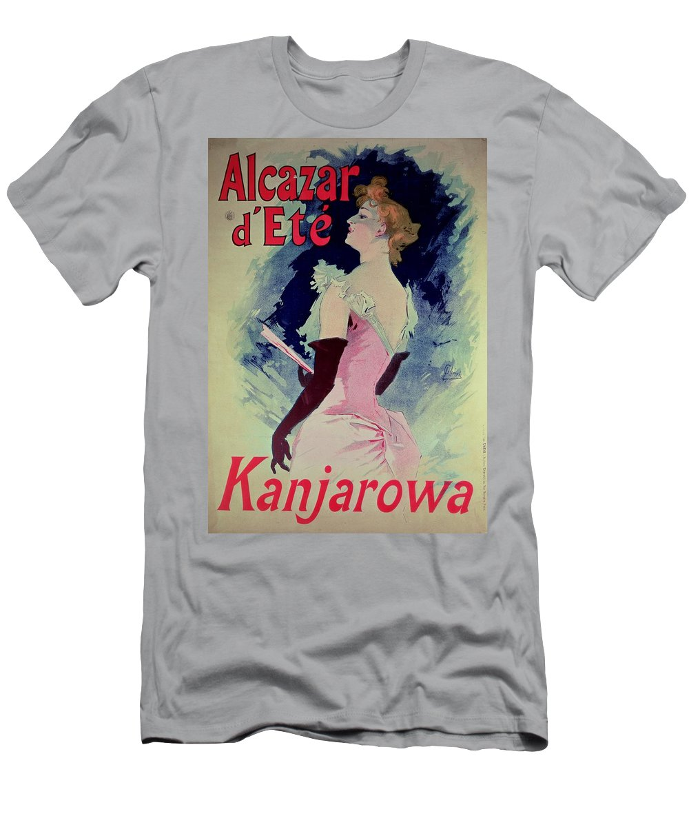 Glamour Men's T-Shirt (Athletic Fit) featuring the painting Poster Advertising Alcazar Dete Starring Kanjarowa by Jules Cheret