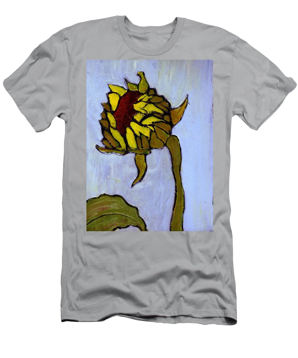 Sunflower Men's T-Shirt (Athletic Fit) featuring the painting Potential by Wayne Potrafka