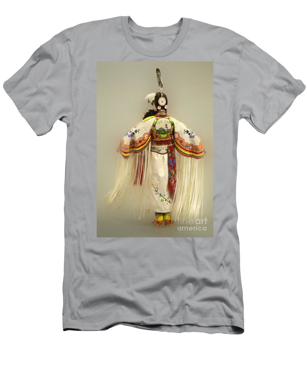 Pow Wow Men's T-Shirt (Athletic Fit) featuring the photograph Pow Wow Traditional Dancer 3 by Bob Christopher