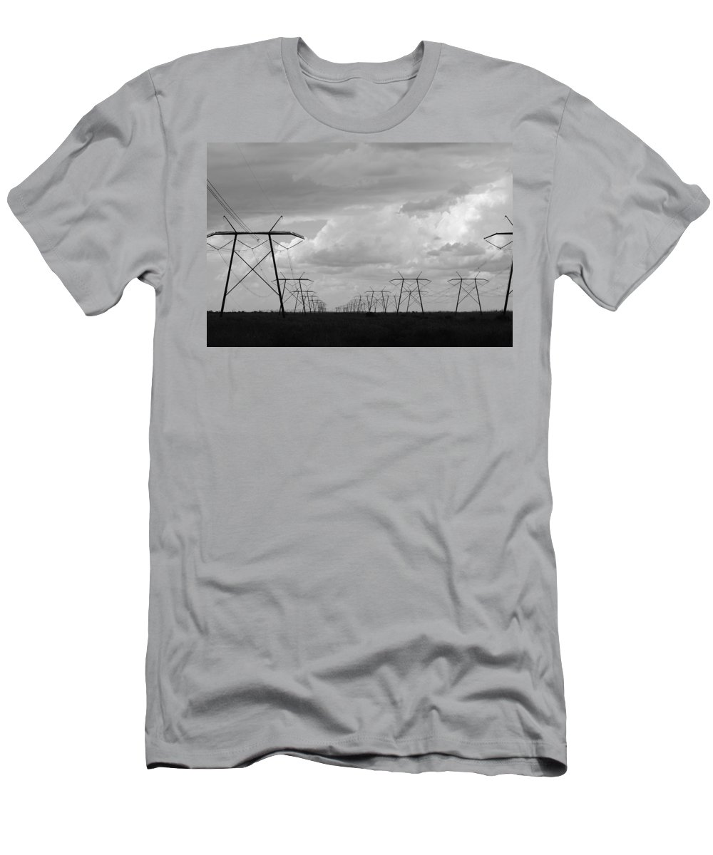 Sky Men's T-Shirt (Athletic Fit) featuring the photograph Power In The Sky by Rob Hans