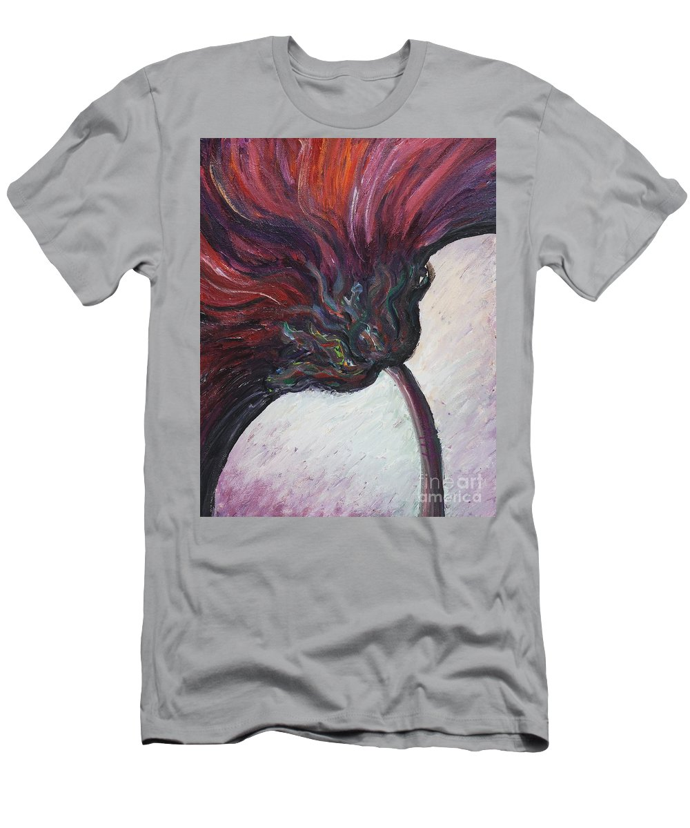 Purple Men's T-Shirt (Athletic Fit) featuring the painting Power Of Purple by Nadine Rippelmeyer