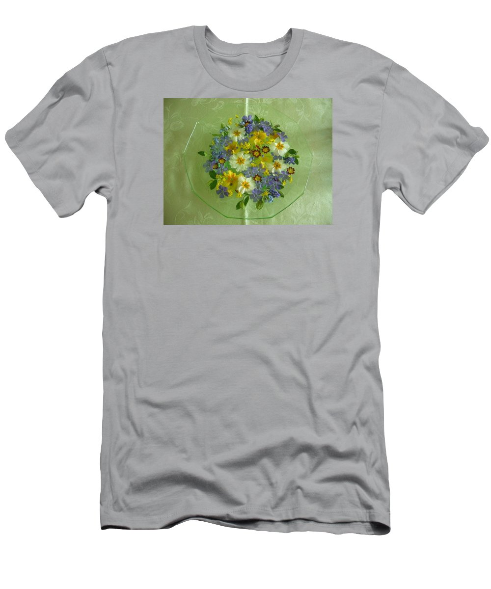 Flowers Men's T-Shirt (Athletic Fit) featuring the photograph Pretty Flowers by Jim Beer