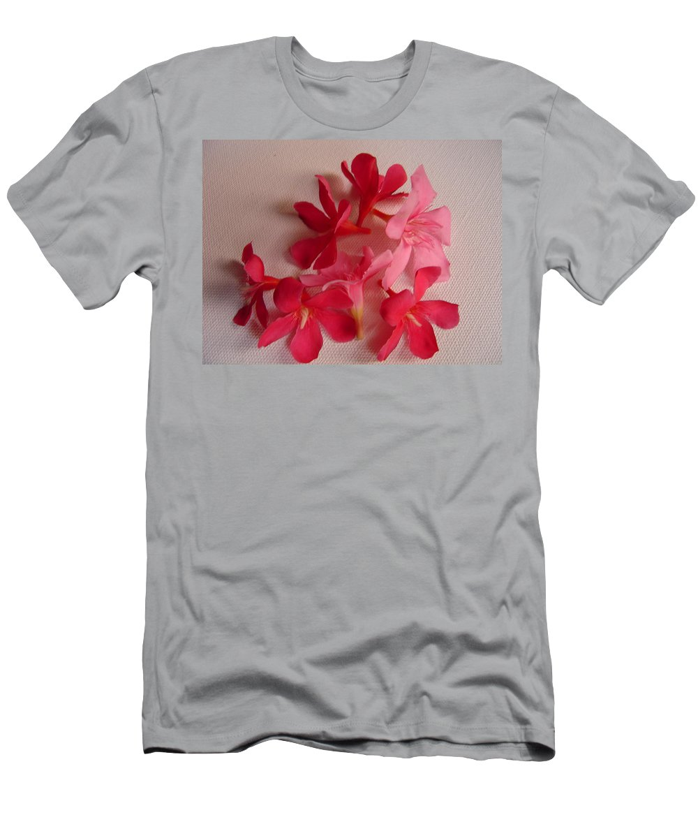 Foliage Men's T-Shirt (Athletic Fit) featuring the photograph Pretty Flowers by Usha Shantharam