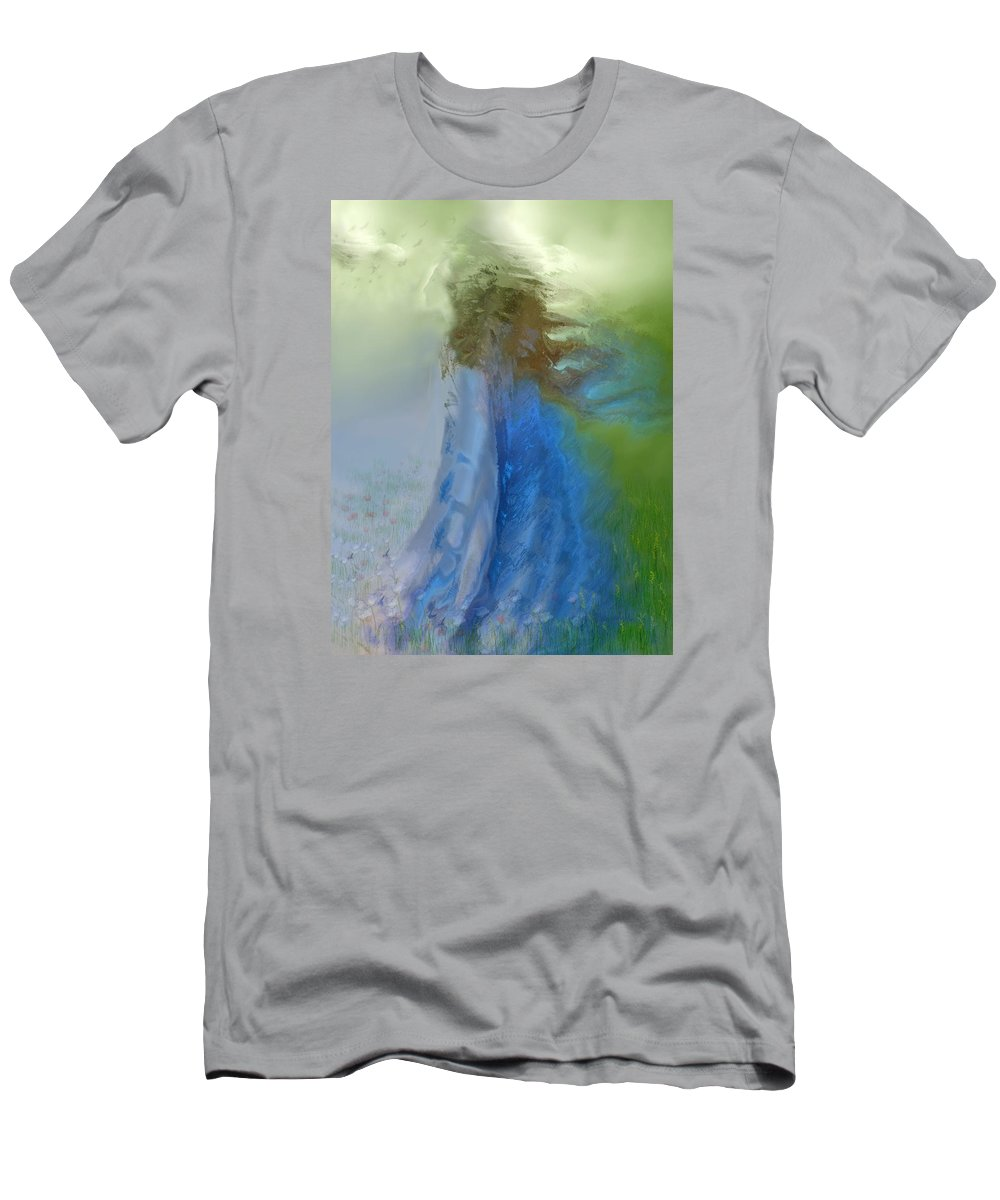 Digital Art Men's T-Shirt (Athletic Fit) featuring the digital art Primavera by Clare Iacobelli