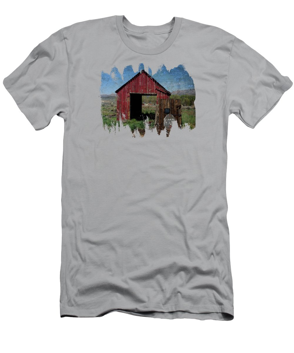 Doyle California Men's T-Shirt (Athletic Fit) featuring the photograph Private Property No Trespassing by Thom Zehrfeld