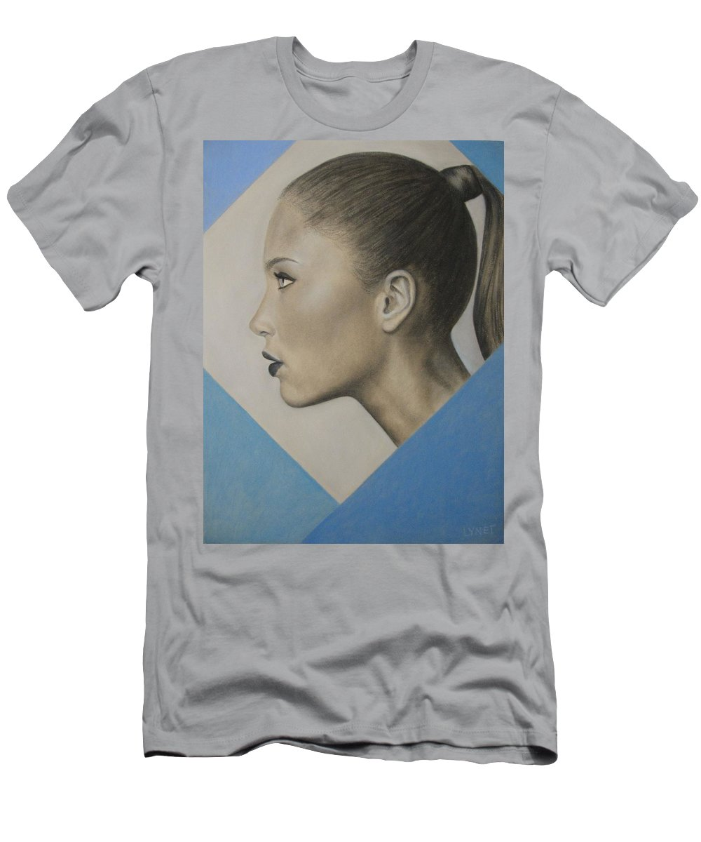 Woman Men's T-Shirt (Athletic Fit) featuring the painting Profile by Lynet McDonald