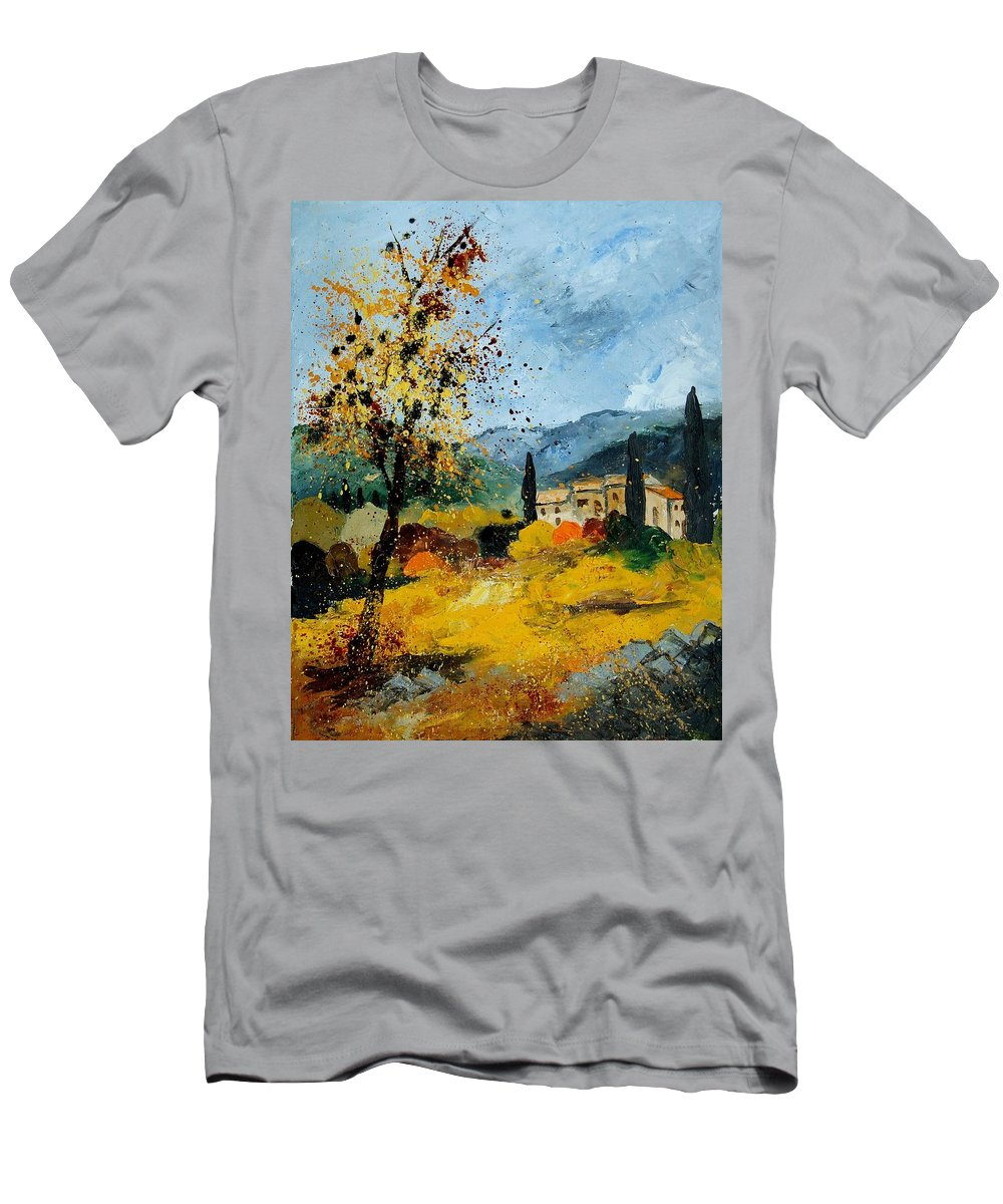 Provence T-Shirt featuring the painting Provence 45 by Pol Ledent