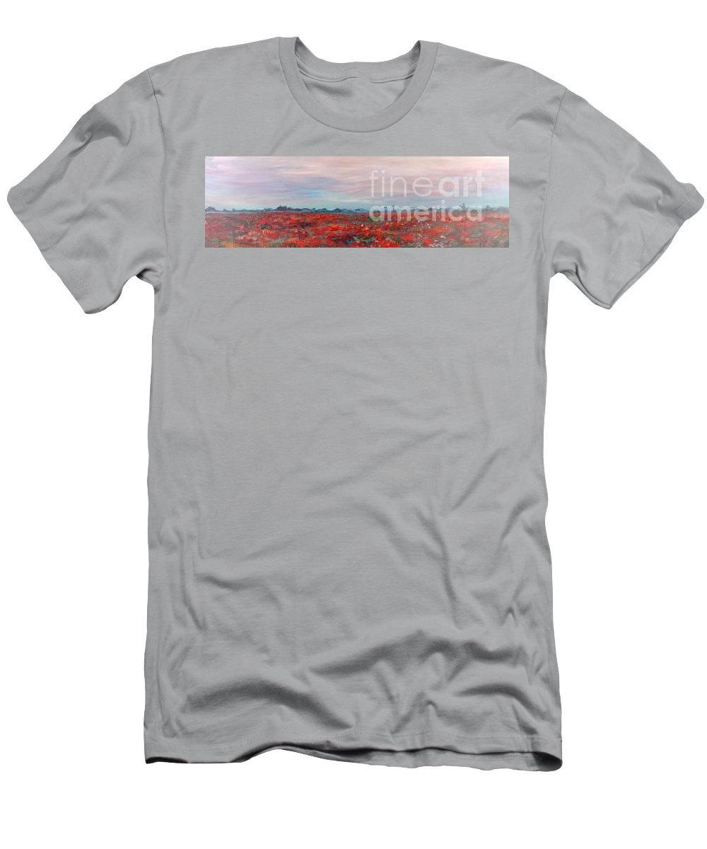 Poppies T-Shirt featuring the painting Provence Poppies by Nadine Rippelmeyer