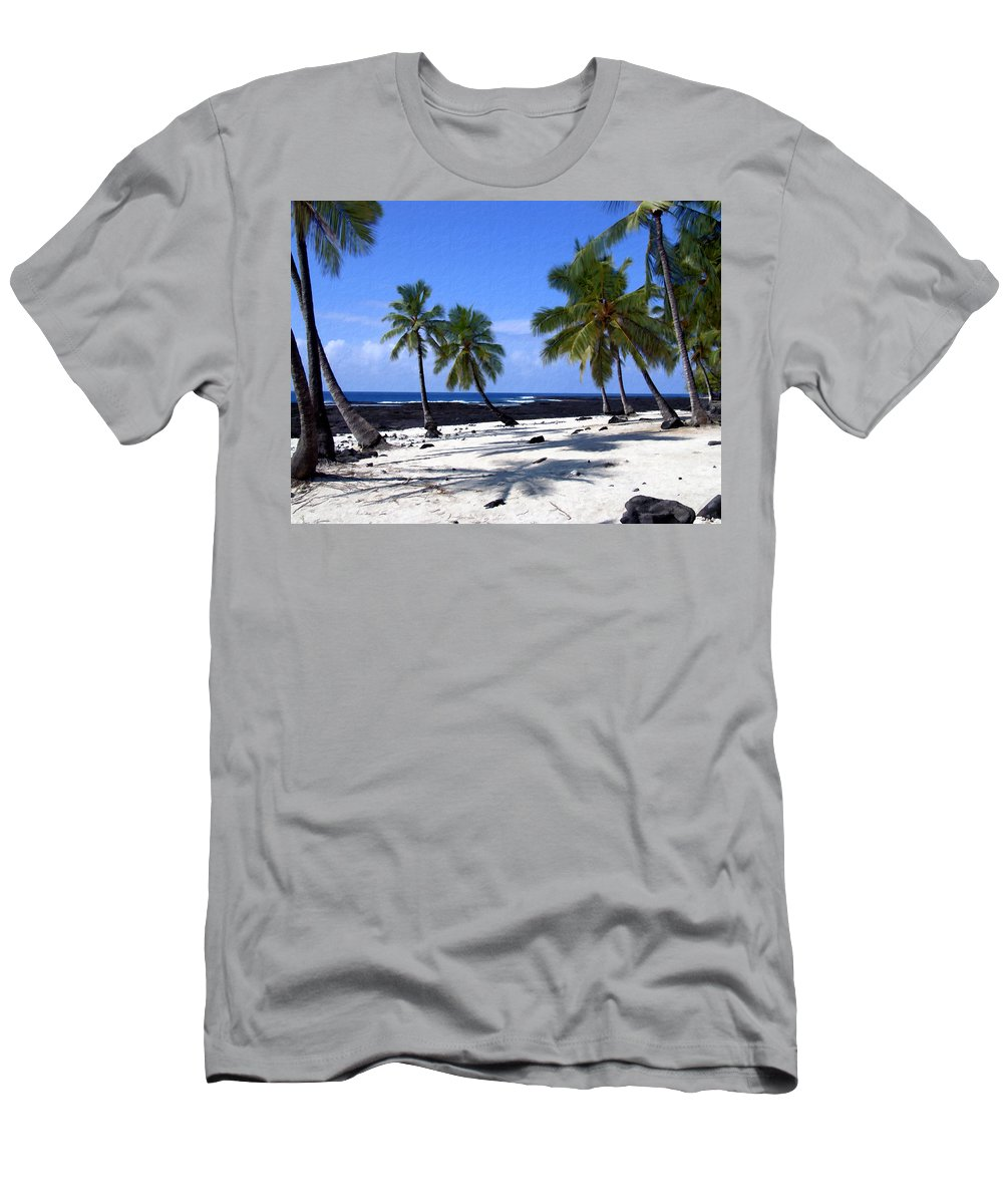 Hawaii Men's T-Shirt (Athletic Fit) featuring the photograph Pu Uhonua O Honaunau by Kurt Van Wagner