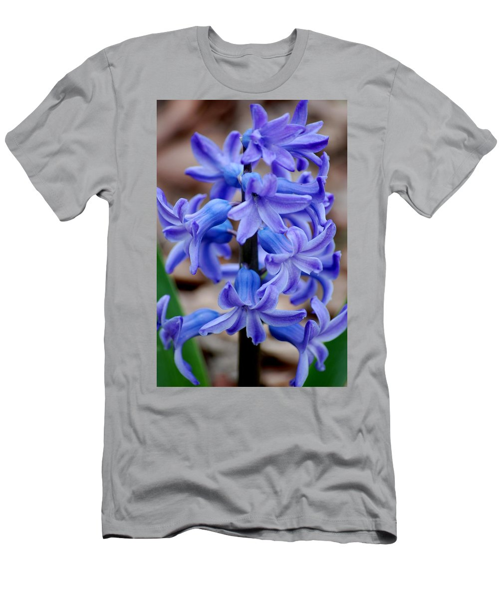 Digital Photography Men's T-Shirt (Athletic Fit) featuring the photograph Purple Hyacinth by David Lane