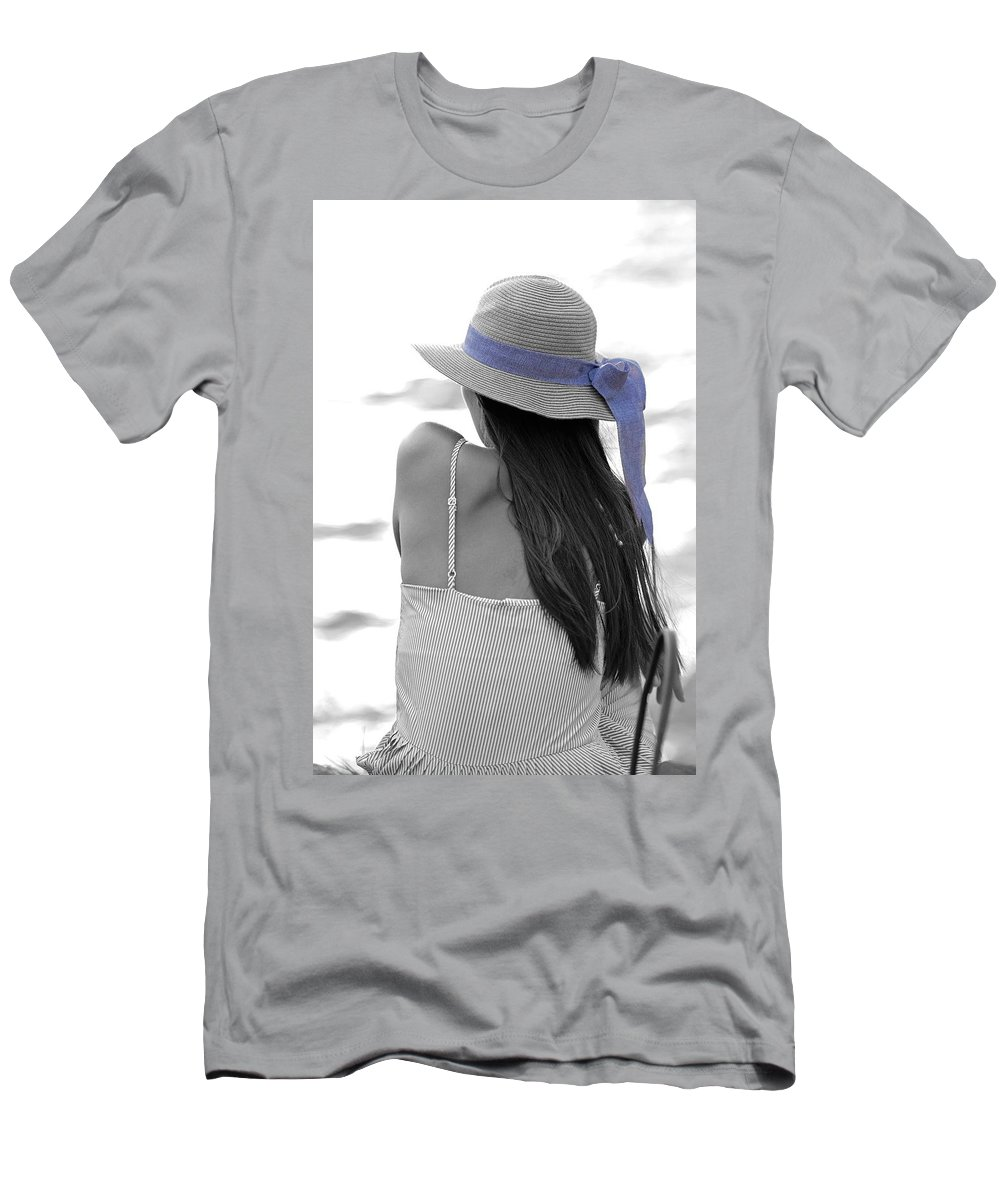 Girl Men's T-Shirt (Athletic Fit) featuring the photograph Purple by Michael Brown